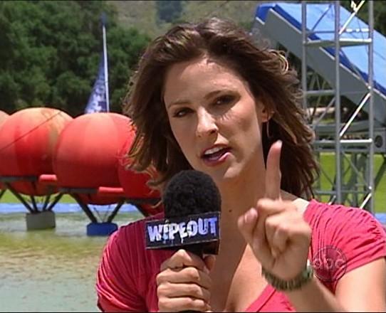 Wipeout host Jill Wagner