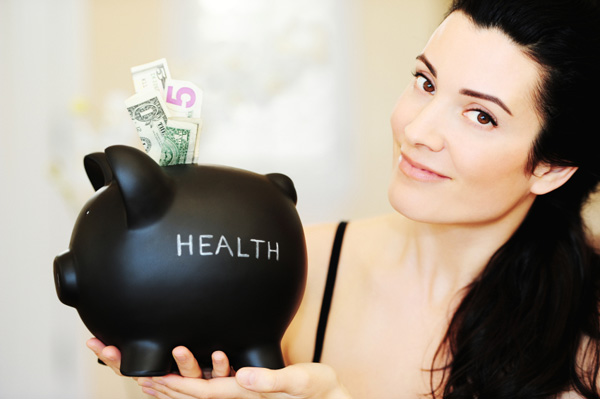 Woman saving money on Health care