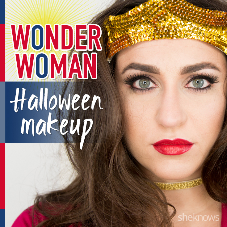 Wonder Woman Halloween makeup
