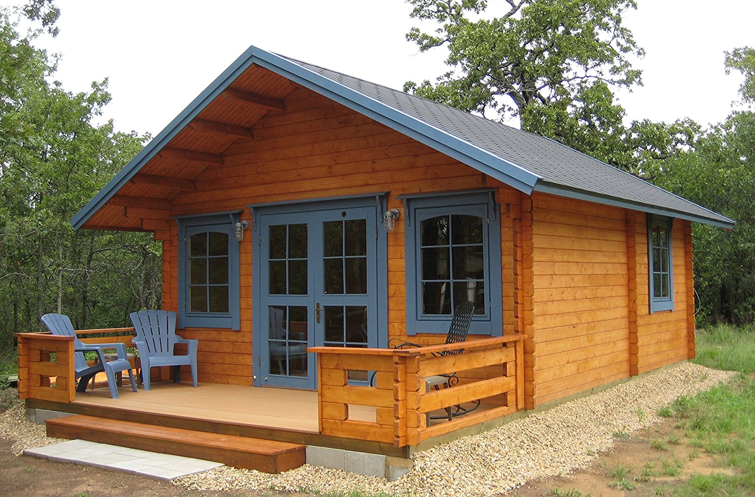 The Best Tiny Houses Available on Amazon: Wood cabin with a loft