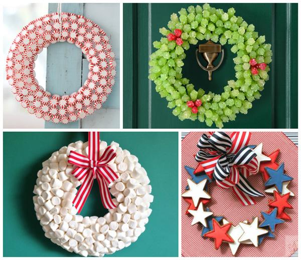Cute wreaths collage