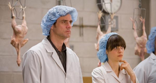 Jim Carrey and Zooey Deschanel get chicken in Yes Man
