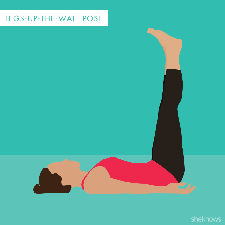Legs-up-the-wall yoga pose