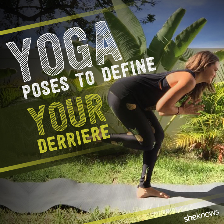 Woman doing yoga for glutes