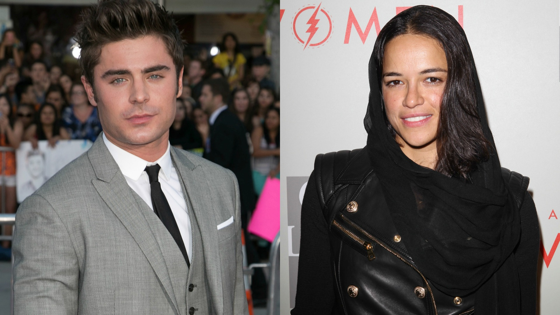Zac Efron and Michelle Rodriguez caught kissing