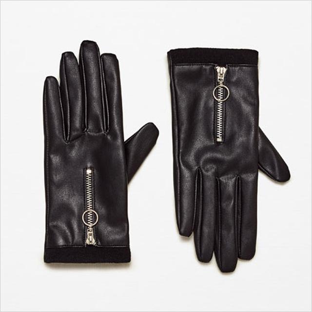 Zara Zipped Gloves