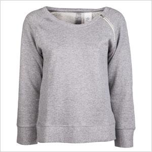 Zippered French terry sweatshirt