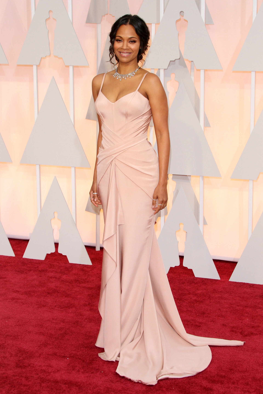 Zoe Saldana at the Oscars