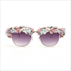 A-Morir - Philips half frame glasses with multi-sized ceramic flowers