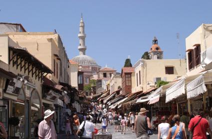 Shopping in Rhodes, Greece