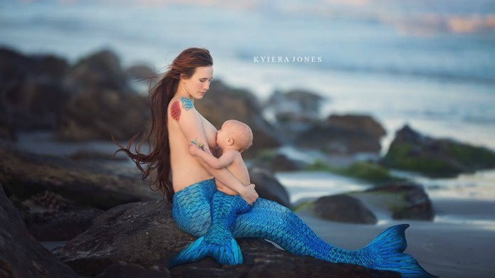 Photographer turns breastfeeding babies and their