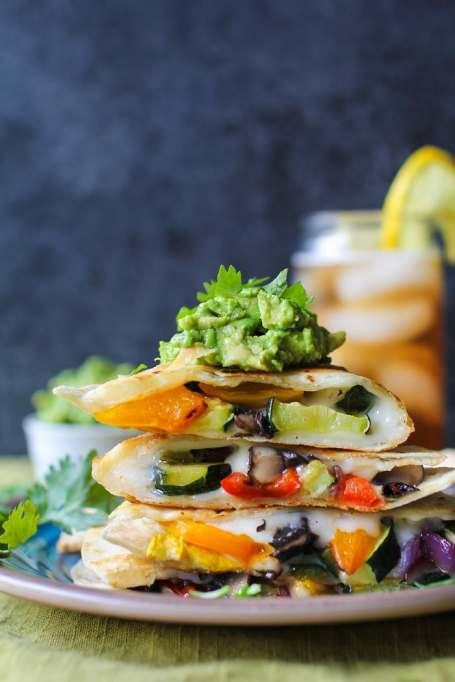 Recipe swaps to help your partner eat healthier | summer quesadillas