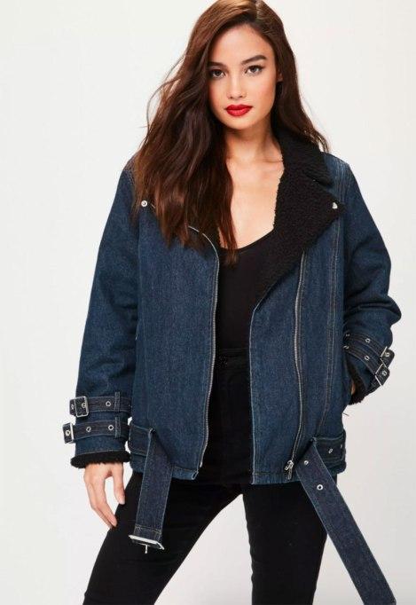 Cool Denim For Fall: Aviator Jacket | Fall Fashion 2017