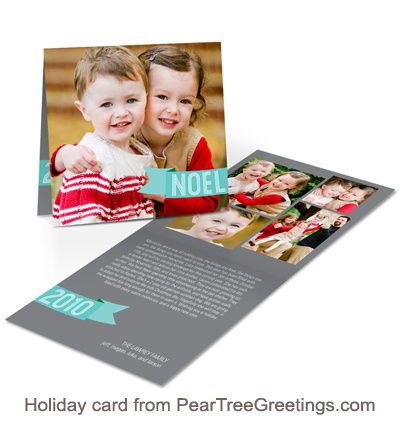 Holiday card from PearTreeGreetings.com