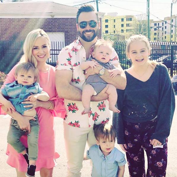 Emily Maynard Johnson and family on Instagram