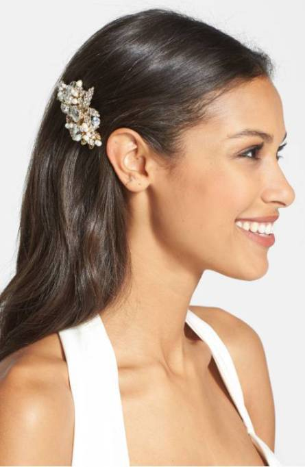 Ethereal Bridal Hair Accessories | Luella Czech Crystal & Freshwater Pearl Clip