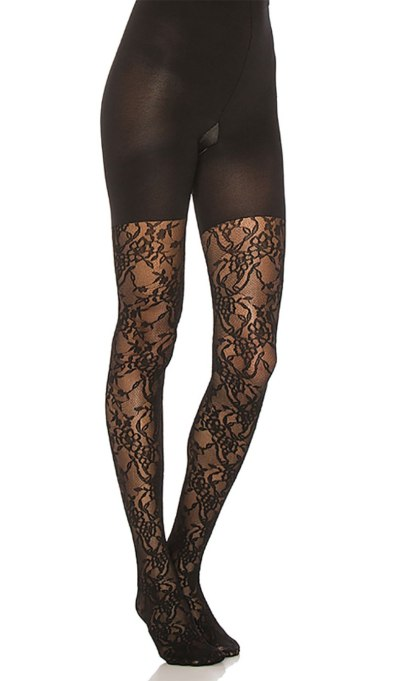 Trendy ways to wear tights | Lace Spanx tights