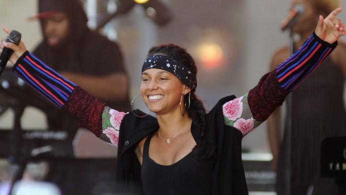 Alicia Keys performing live on NBC's