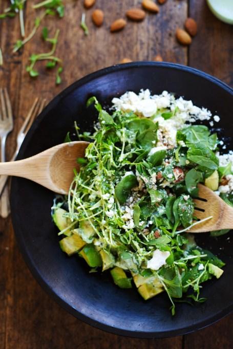 Green goddess detox salad from Pinch of Yum