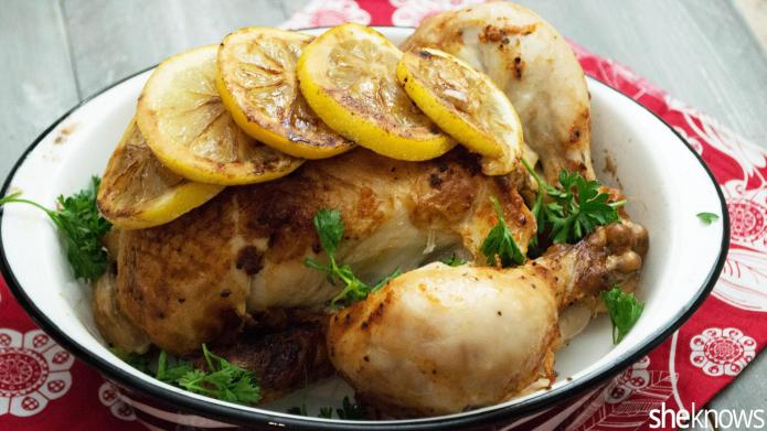 Oven roasted lemon-herb chicken is an