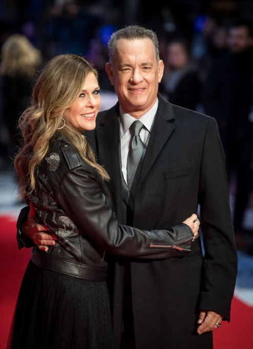 Tom Hanks and Rita Wilson attend 'The Post' European premiere in 2018