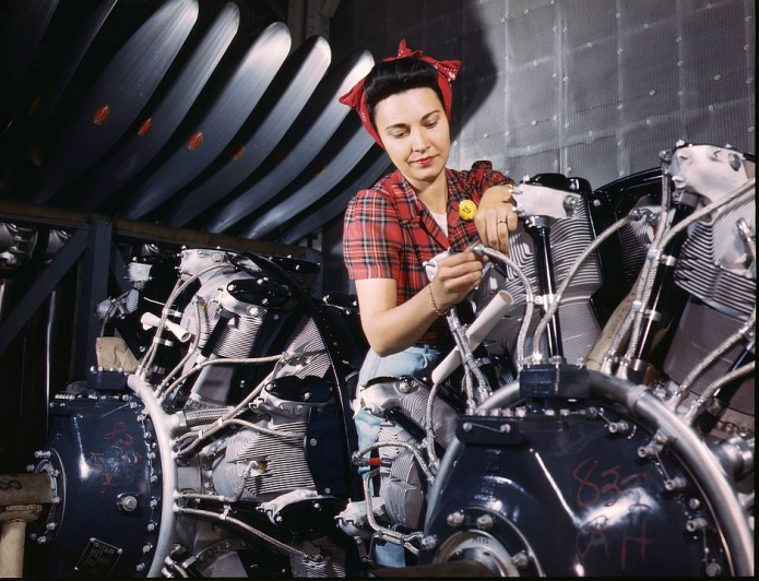 Photos of real-life Rosie the Riveters