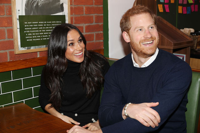 Prince Harry and Meghan Markle during their visit Social Bite in Edinburgh, Scotland