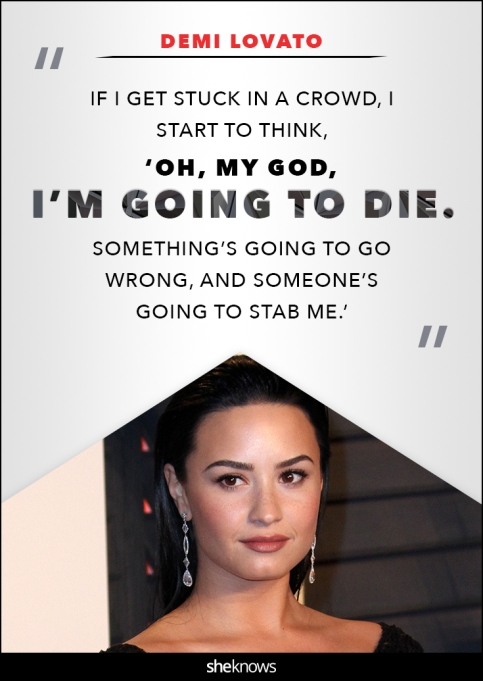 Demi Lovato anxiety quote