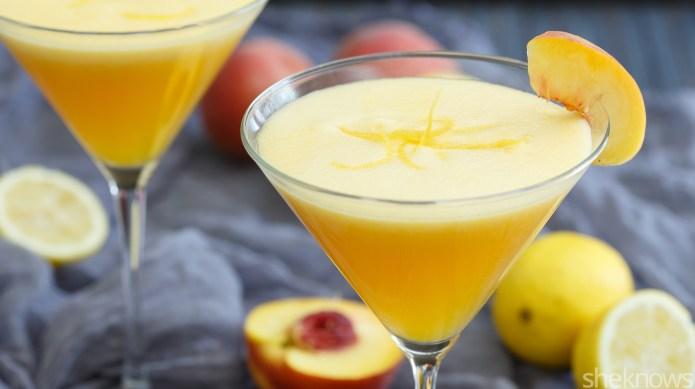 Peachy lemonade martinis might win over