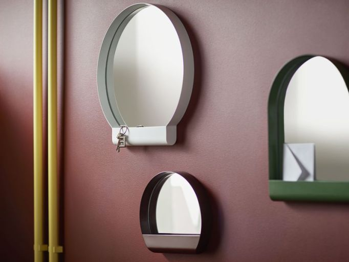 IKEA YPPERLIG: Clever design features, like storage on these mirrors, makes this collection worth a second look.