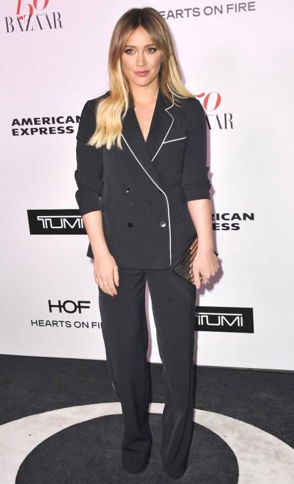 Hilary Duff Harper's Bazaar celebration