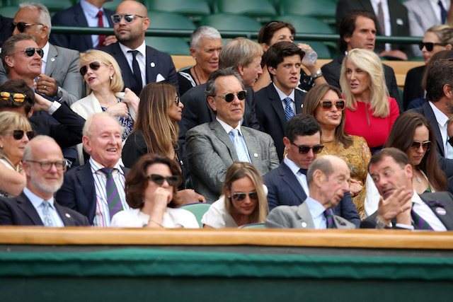 Richard E. Grant attends day nine of the Wimbledon Lawn Tennis Championships
