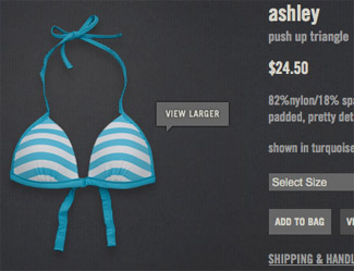Abercrombie push up triangle swimsuit
