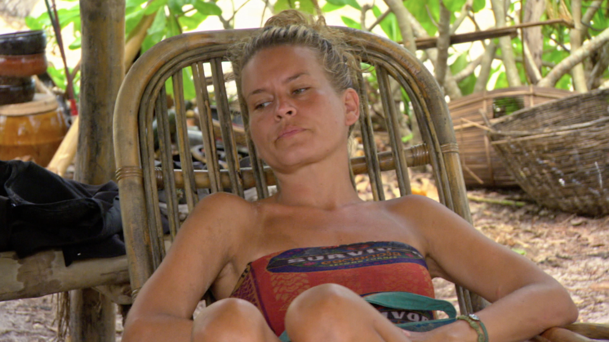 Abi-Maria Gomes at camp on Survivor: Second Chance