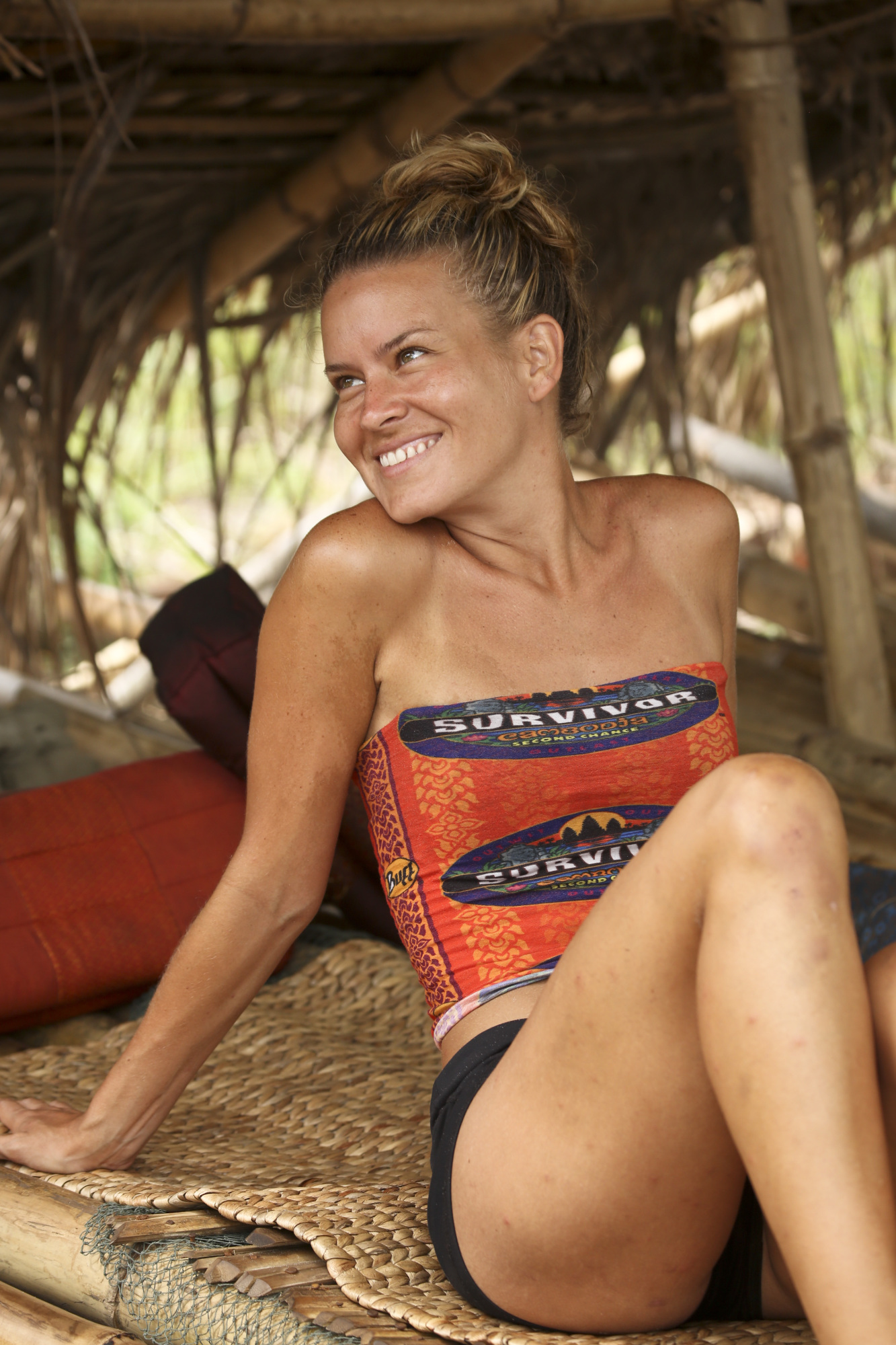 Abi-Maria Gomes in shelter on Survivor: Second Chance