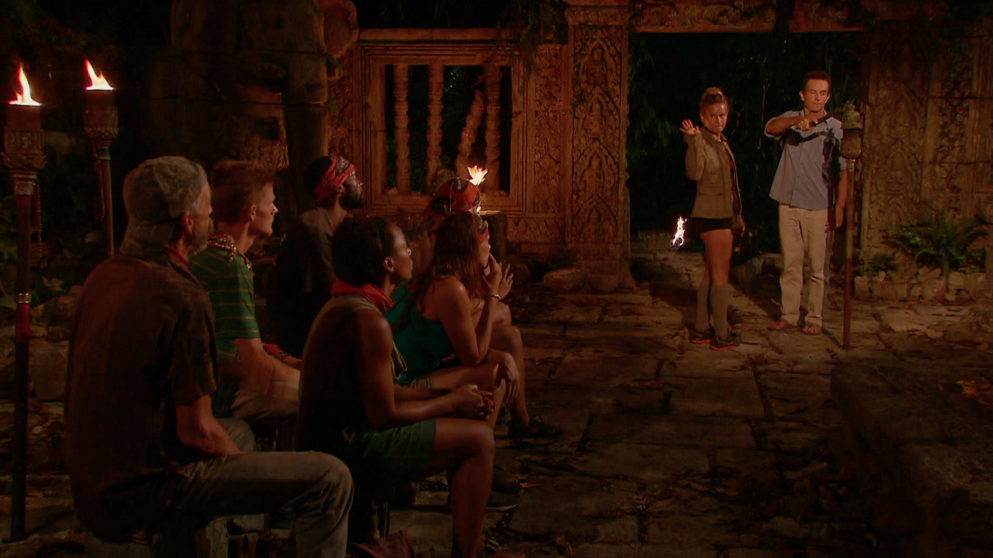 Abi-Maria Gomes leaves Tribal Council after getting voted off Survivor: Second Chance