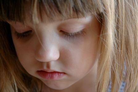 Abused little girl