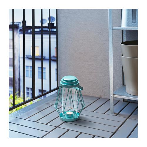Turquoise Sommar 2018 lantern tea lights