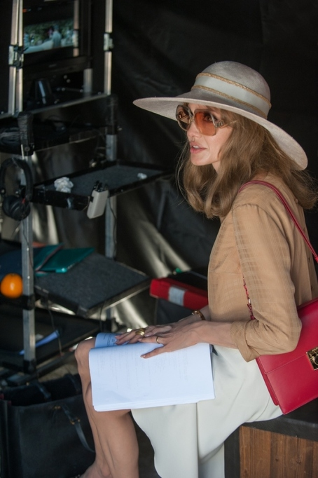 Angelina Jolie on the set of 'By the Sea'