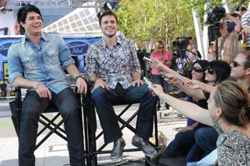 The American Idol final two: Adam and Kris