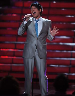 Adam Lambert on American Idol's finale