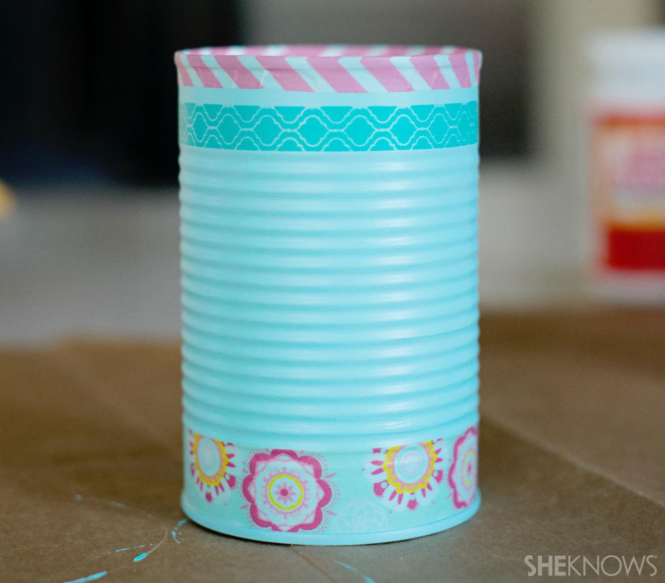 Tin can pencil holder | Sheknows.com - washi tape