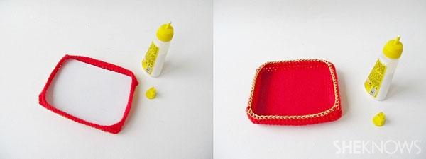 Valentine's Day crochet box of chocolates: Glue into box
