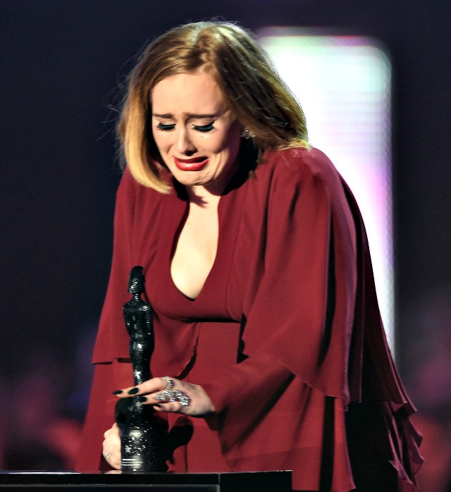 Adele's emotional Brit Awards speech