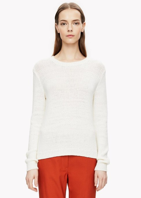 The Best Stores to Shop for Fashion Basics: Theory Boucle Crewneck Sweater | Summer style 2017