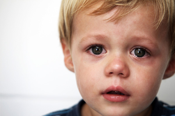 Adoptive boy with separation anxiety