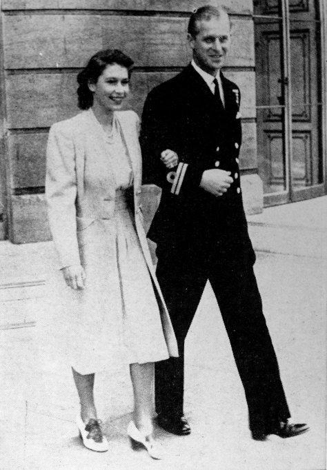 Queen Elizabeth II & Prince Philip 1936