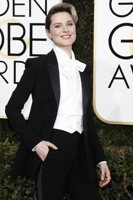 Evan Rachel Wood at the 2017 Golden Globes