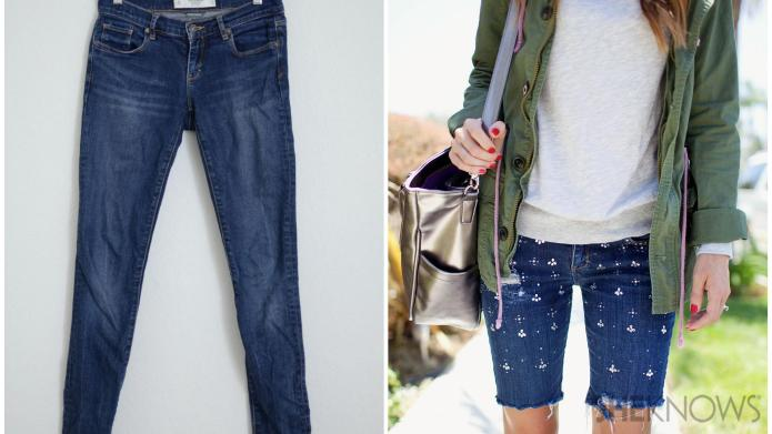 Decorate your own DIY jean shorts