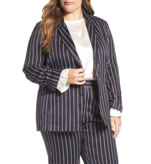 Winter Trends We're Excited For | Elvi pinstripe blazer